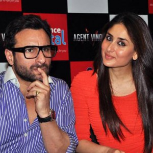 Saif Ali Khan with his wife