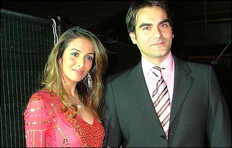 Arbaaz Khan with his wife