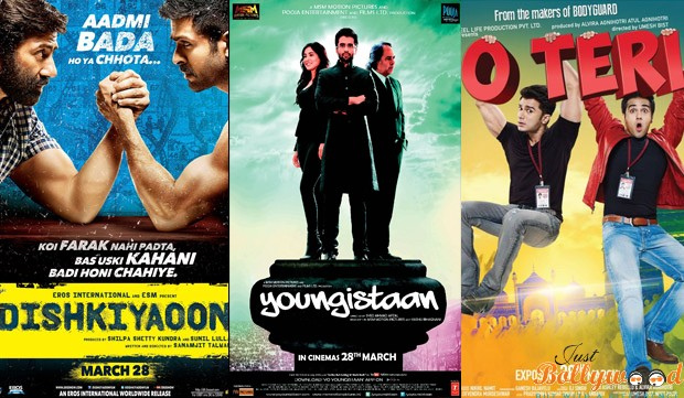 box office collection of Dishkiyaoon, O Teri & Youngistaan