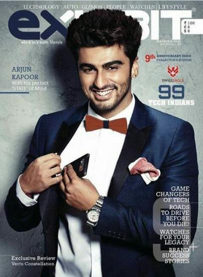 Arjun kapoor on Exhibit cover