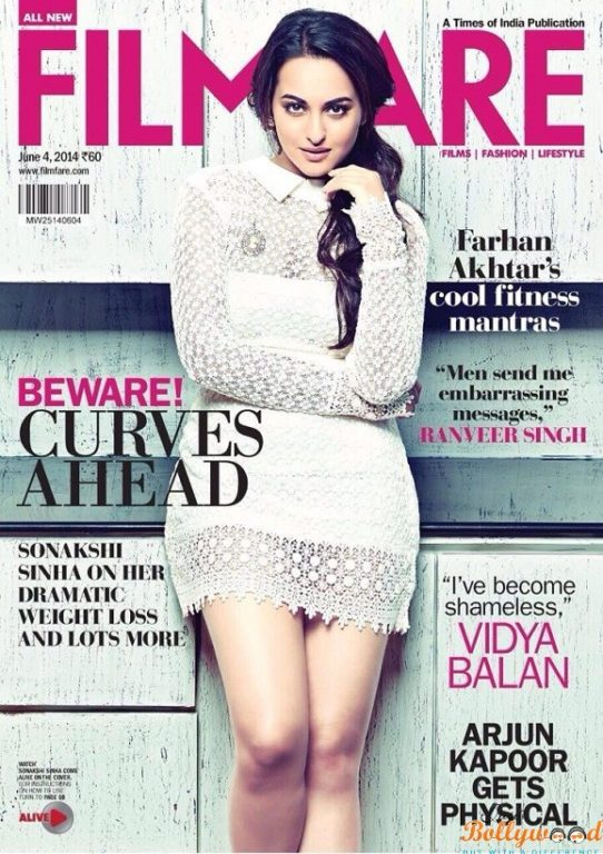 Sonakshi covers June issue of Filmfare