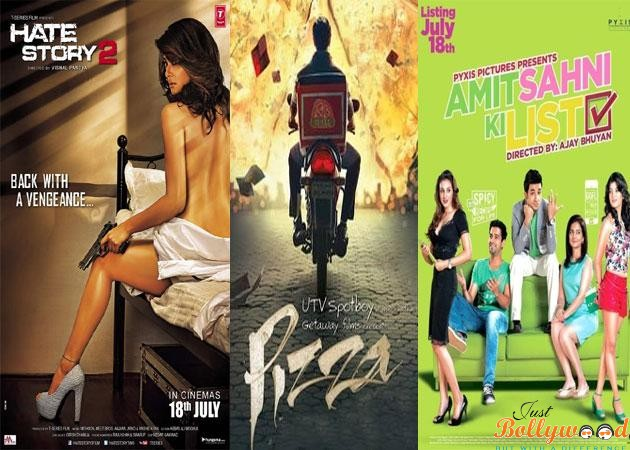 first week collection of Hate story 2, Pizza 3d and Amit Shahni Ki List