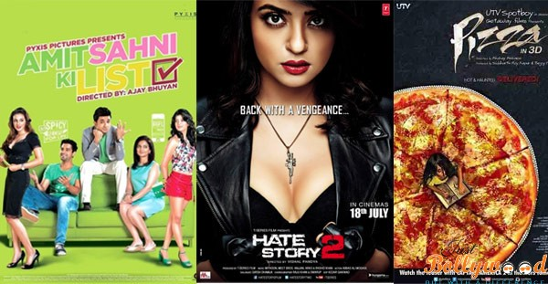 poster amit shahni list, hate story 2 and Pizza