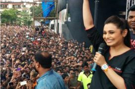 Rani Mukerji visited the grand event of Shree Sankalp Pratishthan Dahi Handi