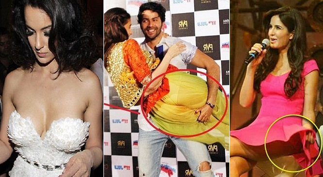 Top 10 Bollywood Actress Wardrobe Malfunction