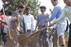 Salman Khan picks up broom for 'Clean India' campaign