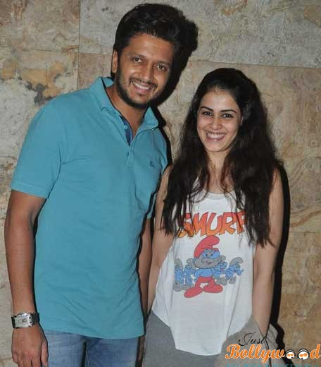 Photo of Riteish Deshmukh and Genelia Divine with a Cute Son
