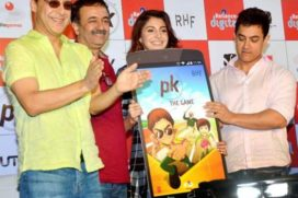 Aamir and Anushka launches PK Video Game
