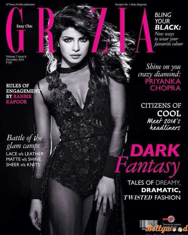 Photo of Priyanka Chopra on the cover of Grazia's Cover for Dec 2014
