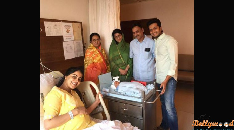 riteish and genelia names their baby boy