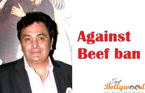 Photo of Rishi Kapoor – Grabbed Under Sparking Controversies for Eating Beef