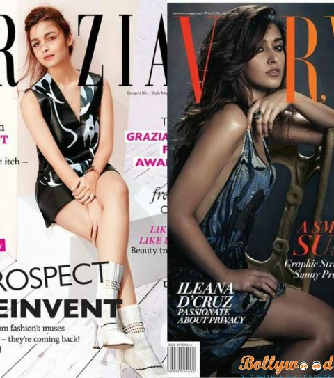 Photo of Gorgeous Alia Bhatt & Ileana D'Cruz Sizzling The Cover of Grazia and Verve Magazine Covers
