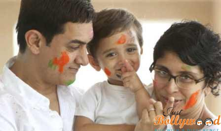 Aamir Khan and Kiran Rao kid