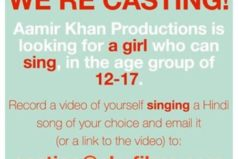 Aamir Khan's Production Calling Up For Fresh Female Face on Facebook and Twitter
