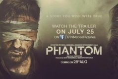 Phantom Poster: A Jerk before Placing the Movie Trailer