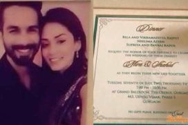 Shahid Kapoor-Mira Rajut Wedding Invitation Card Revealed