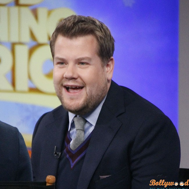 British comedian/actor James Corden visits 'Good Morning America' in NYC's Times Square