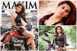Tapsee Pannu Smashes Maxim Cover January 2016