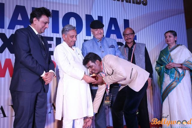 Govindrao received National Excellence Award 2016 at Indore