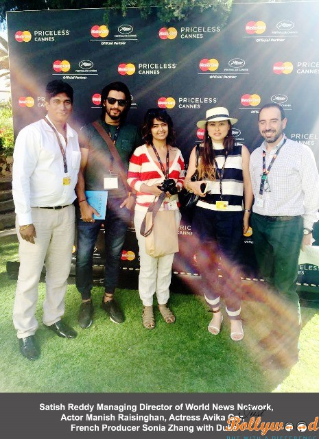 Satish Reddy Managing Director of World News Network, Actor Manish Raisinghan, Actress Avika Gor, French Producer Sonia Zhang with A
