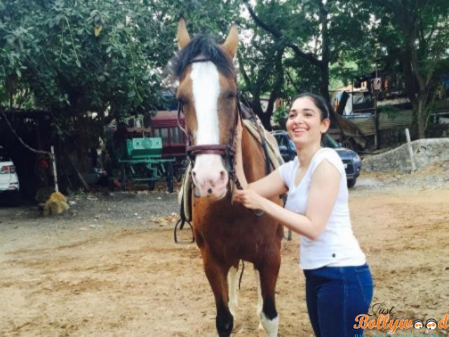 tamannaah getting horseriding lessons