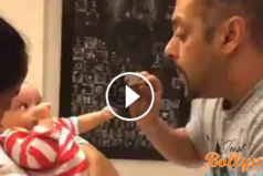 Salman Khan Talking with nephew Ahil in this awwdorable video
