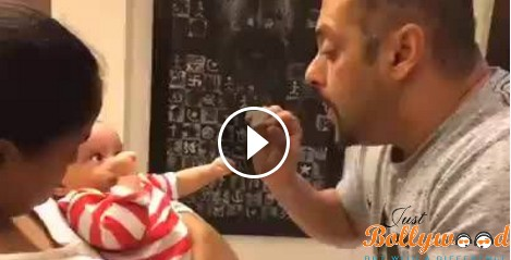 Photo of Salman Khan Talking with nephew Ahil in this awwdorable video