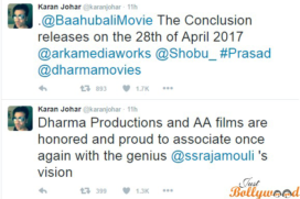 Baahubali: The Conclusion Releasing Dates Revealed by the Makers!