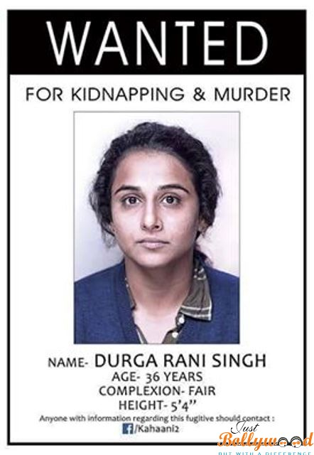 Photo of Catch Teaser Poster of Kahaani 2 Featuring Vidya Balan for the most wanted lady