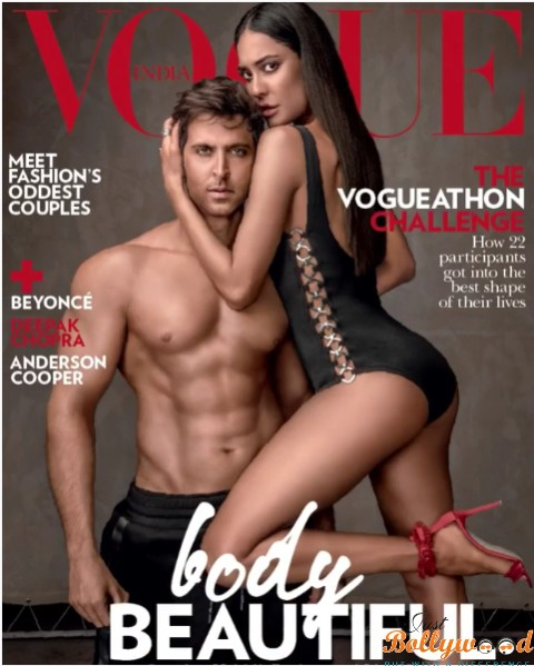 Hrithik & Lisa on Vogue magazine cover page