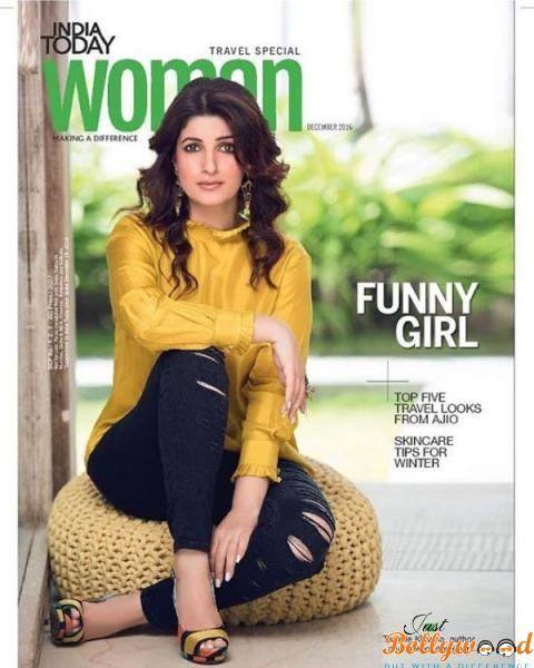 Photo of Catch Twinkle Khanna shinning on India Today Woman magazine's December issue