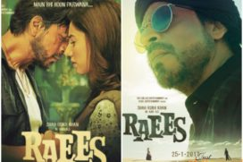 Catch Raees new posters with SRK's bohemian avatar & showcasing intense chemistry with Mahira Khan