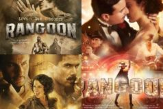 Catch Rangoon Posters- Saif, Shahid and Kangana will certainly make you fall in love