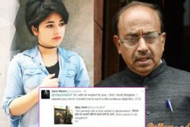 Catch how Zaira Wasim had cornered the Sports Minister Vijay Goel on Twitter