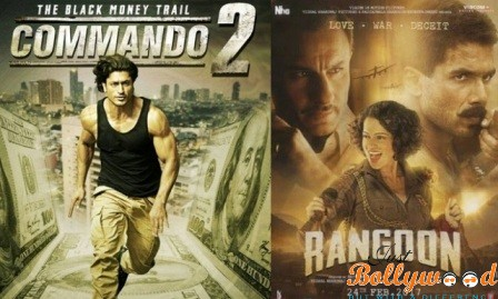 Photo of Rangoon and Commando 2 Total Box office collection