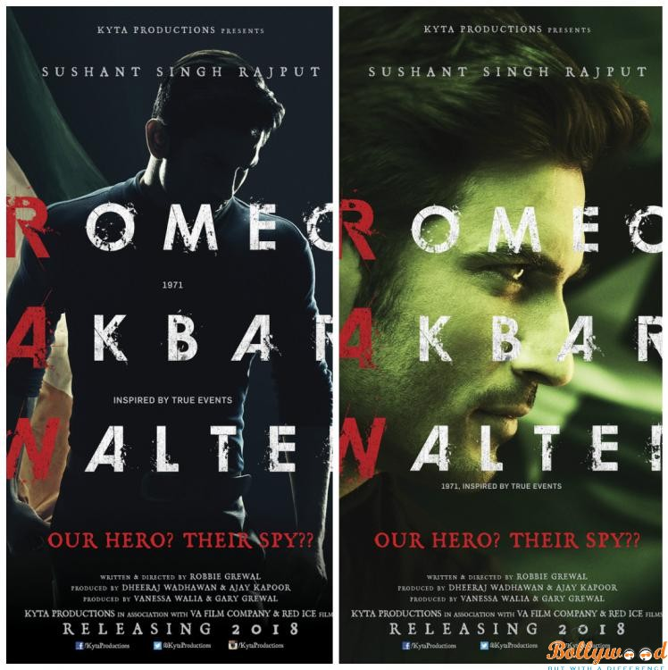 Photo of Catch the First Look Posters of Romeo Akbar Walter featuring Sushant