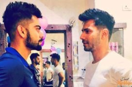 Varun Dhawan poses with Virat Kohli, calls him cool and humble