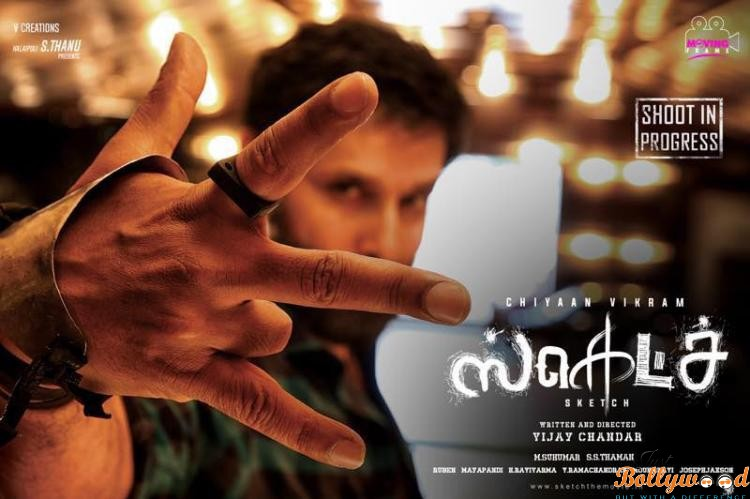 First Look Poster Tamannaah and Chiyaan Vikram's Sketch looks intriguing