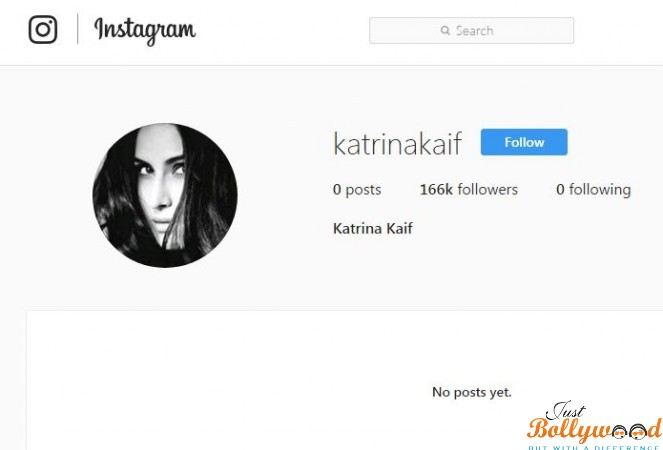 Photo of Katrina Kaif Joins Instagram her 27th April 2017 Surprise