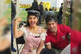 A pack up for Varun Dhawan and Jacqueline Fernandez Judwaa 2 of the London shoot