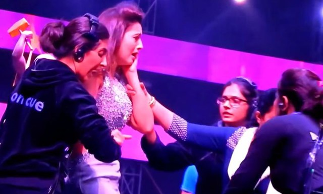 Gauhar Khan Gets Slapped On Stage