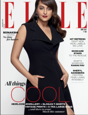 Sonakshi Sinha on Elle cover page