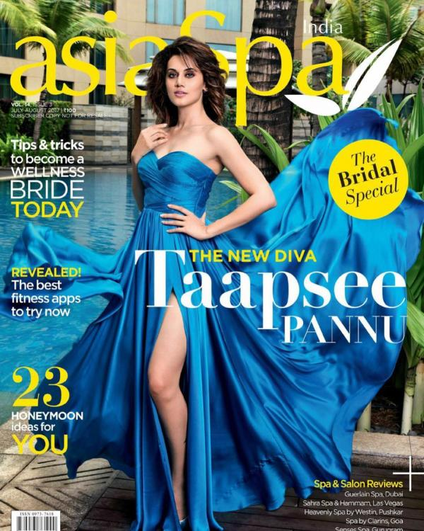 Catch Taapsee Pannu on Asia Spa Magazine Cover page