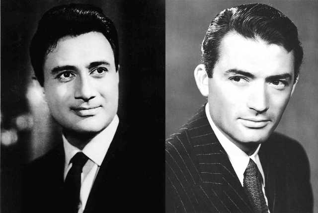 Dev Anand and Gregory Peck