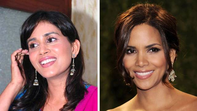 Sonali Kulkarni and Halle Berry