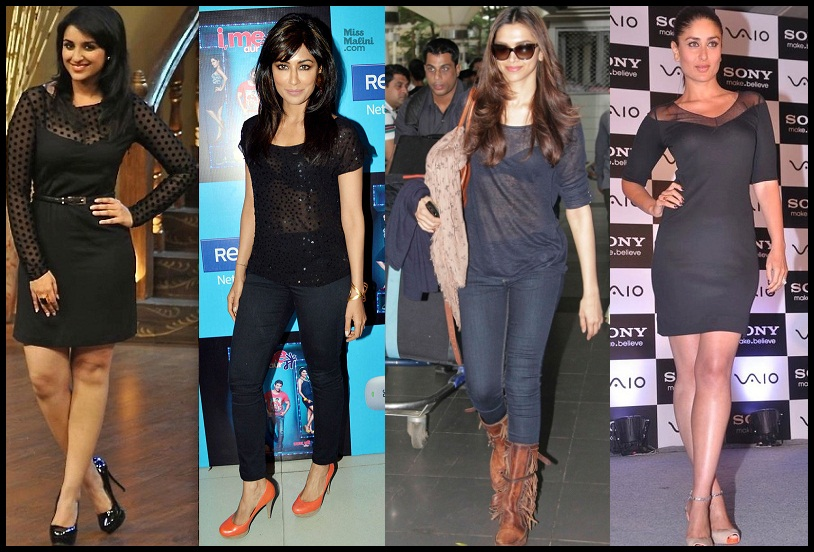 Bollywood Celebrities in black dress