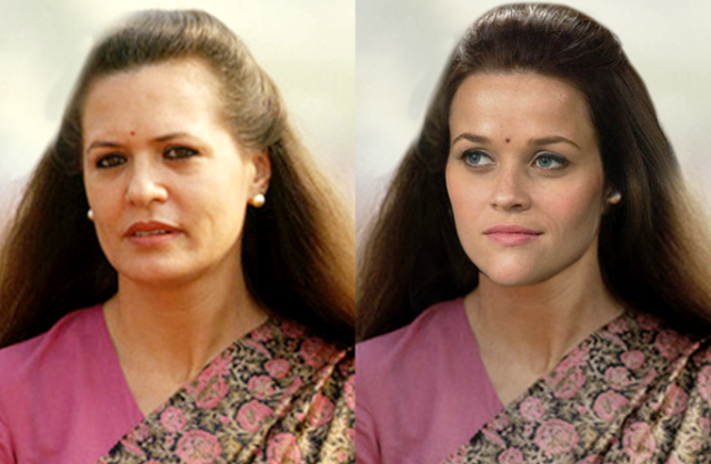 Sonia Gandhi - Reese Witherspoon
