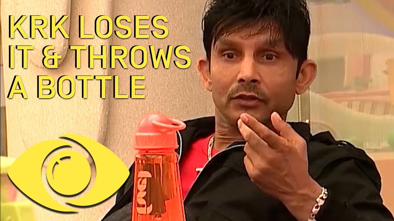 KRK Throws A Bottle At Rohit