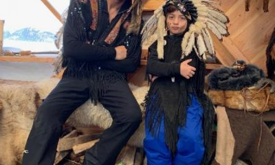 Srk AbRam american outfit