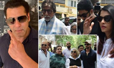 Bollywood stars vote